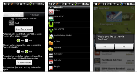 plug in launcher app for android