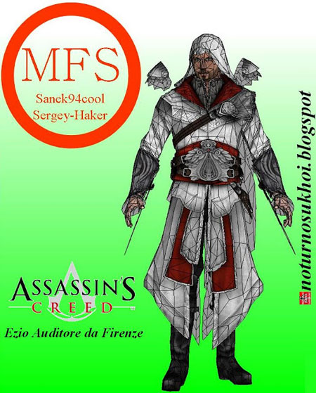 Assassin's Creed Paper Model Ezio Auditore da Firenze