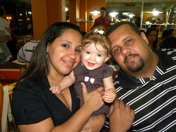 Tia Dea, eu e Tio Marcelo