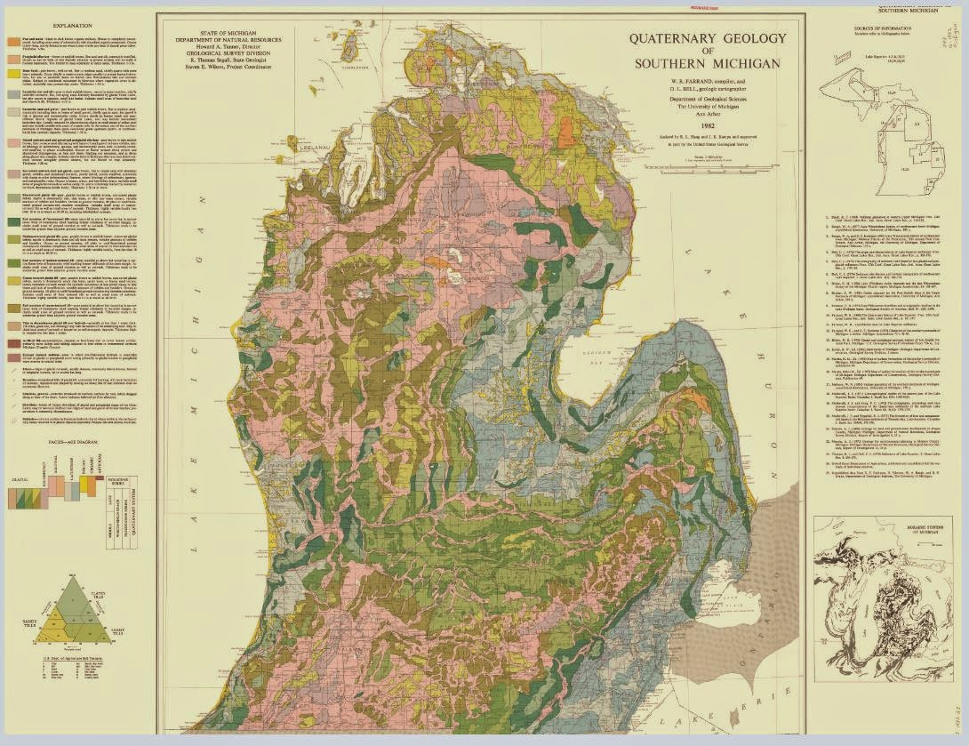 Quarternary geology of southern michigan this map contains the quaternary geology of the lower peninsula of michigan including a map of morainic systems of michigan and an explanation of the publicscrutiny Image collections