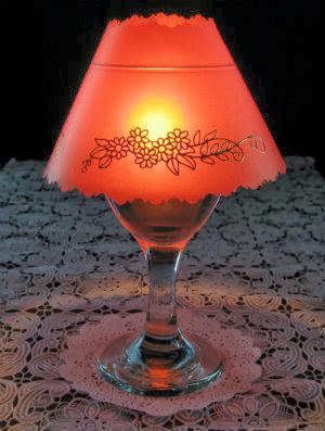 wine glass luminaria photo
