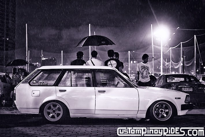 Stancing in the Rain Jordan Reyes Old School Corolla Wagon Custom Pinoy Rides Car Photography Philippines Philip Aragones