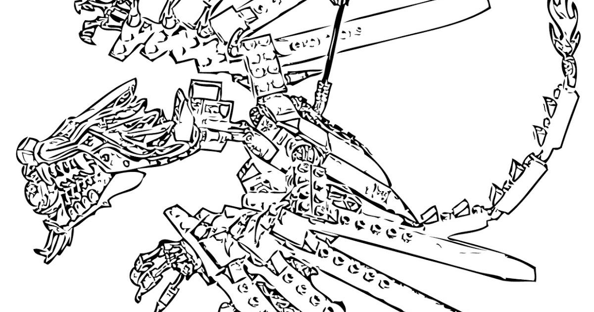 Dessin colorier ninjago for Lego dragon coloring pages