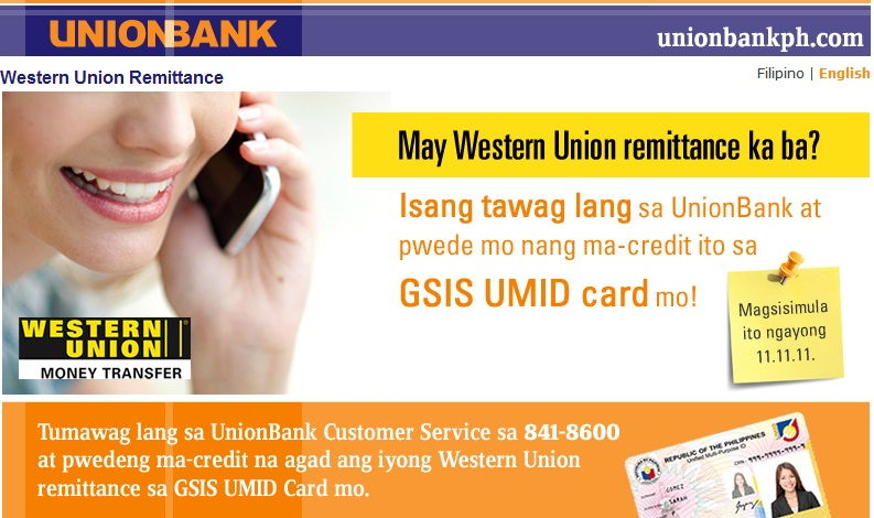 Unionbank Western Union remittance