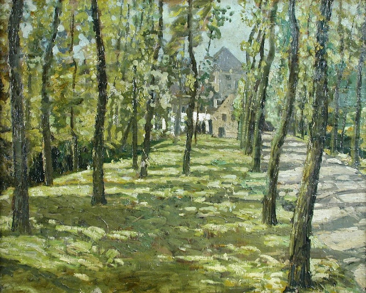 Walter Elmer Schofield - Farmhouse within Trees