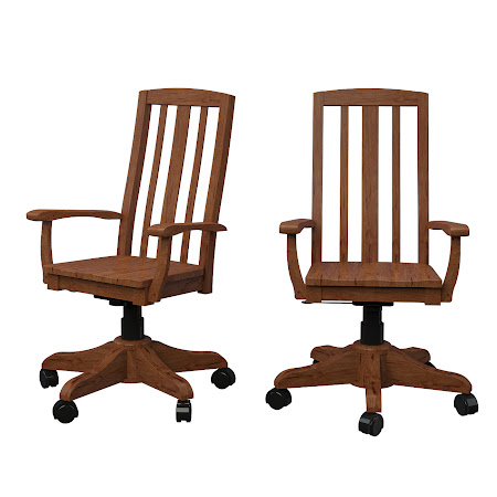 Montreal Office Chair in Vermont Maple