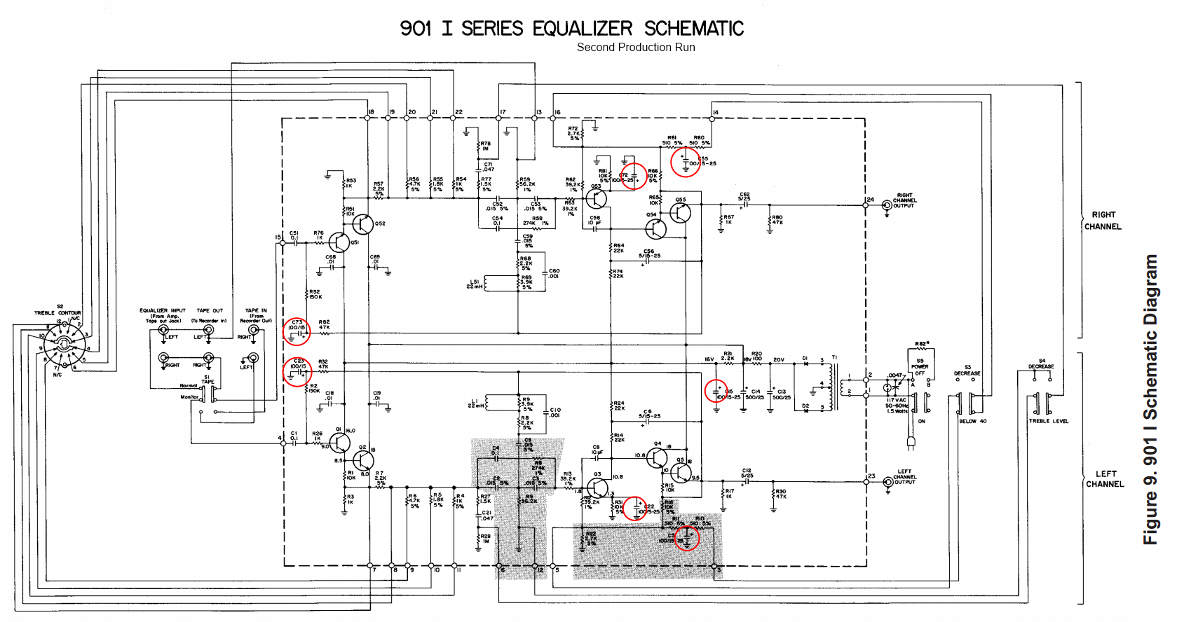 901 bose amplifier wiring diagram 901 auto wiring diagram schematic bose 901 series 1 active equalizer repair vintage hi fi on 901 bose amplifier wiring diagram