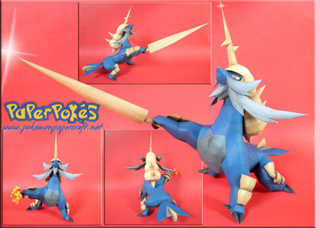 Pokemon Samurott Papercraft