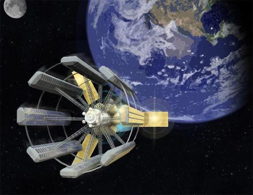 星際飛船概念圖,採用模塊式設計,至少可容納1萬人。 1萬人是讓一個社區保持健康穩定和可持續性所需的最低人數