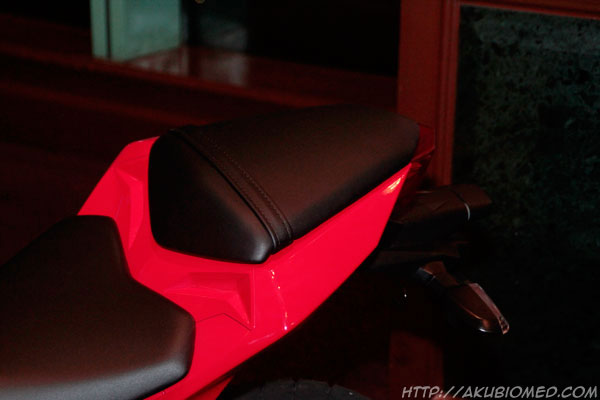 tempat duduk belakang kawasaki ninja 250 2013