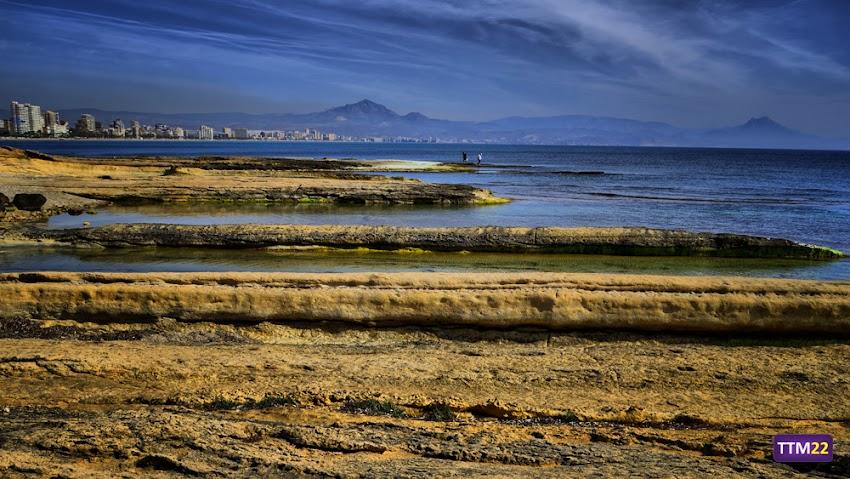 Nikon D5100, 18-55 mm, Paisajes, HDR, Calas, Cabo de la Huerta, Alicante, Mar, Cabeçó d'Or, Sierra Aitana, Puig Campana