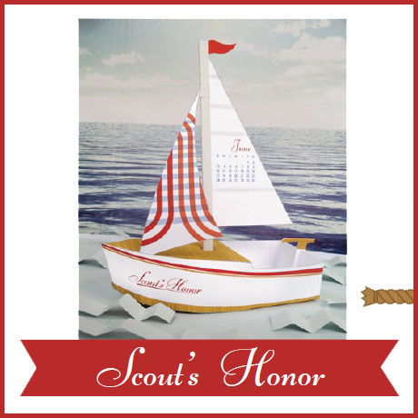 Sailboat Papercraft Calendar June