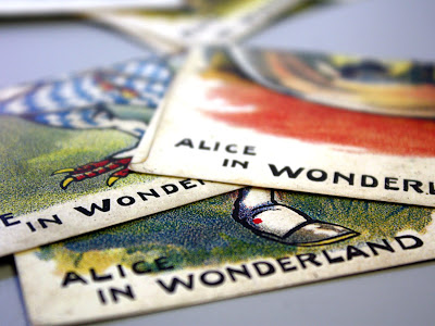 Alice in Wonderland cards in the Story Museum in Oxford