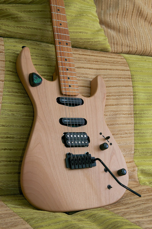 Clear matte Alder-Canary Solo-IST:) Simple, but cool!