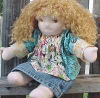 "Lucy - 15""  Weighted Waldorf Doll"