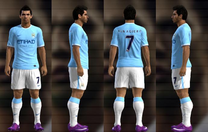 Manchester City 13-14 Kitset - PES 2013
