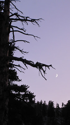 Quarter moon from our campsite©http://backpackthesierra.com