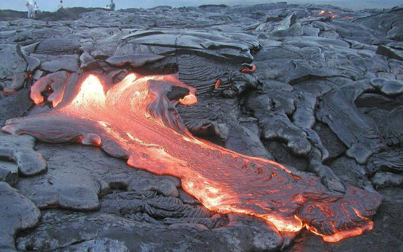 Вулкан Килауэа на Гаваях. Фото.