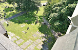St Michaels churchyard from tower