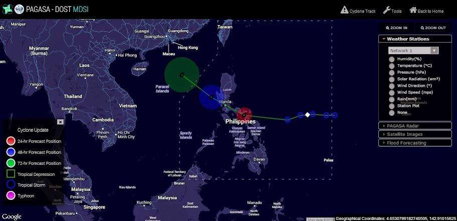 Typhoon Glenda track