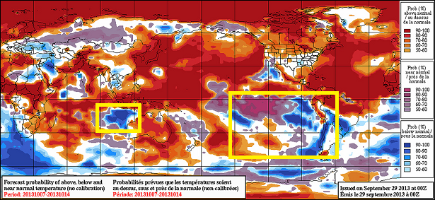 global temp anomlay oct 2013