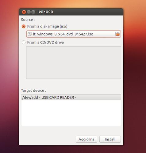 WinUSB 1.0.9 su Ubuntu
