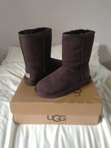 Short Classic Ugg Boot in Chocolate Brown