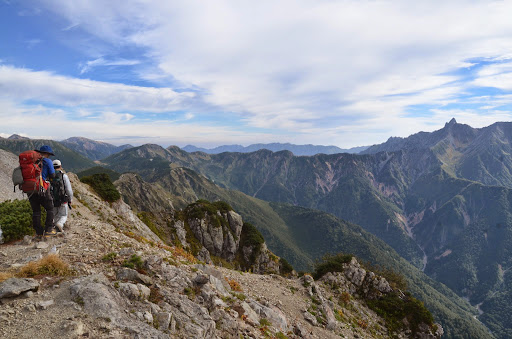 北アルプス稜線