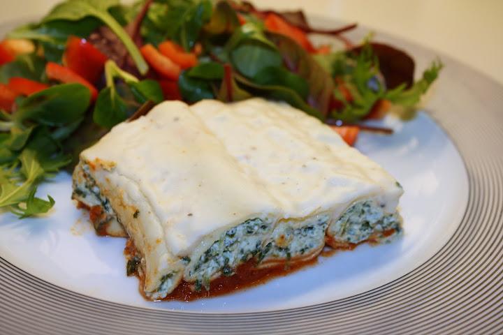 Opskrift på cannelloni med spinat og ricotta