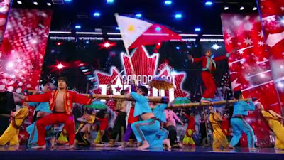 Kayumanggi perform Singkil at Canada's Got Talent, philippine flag at candas got talent.jpg