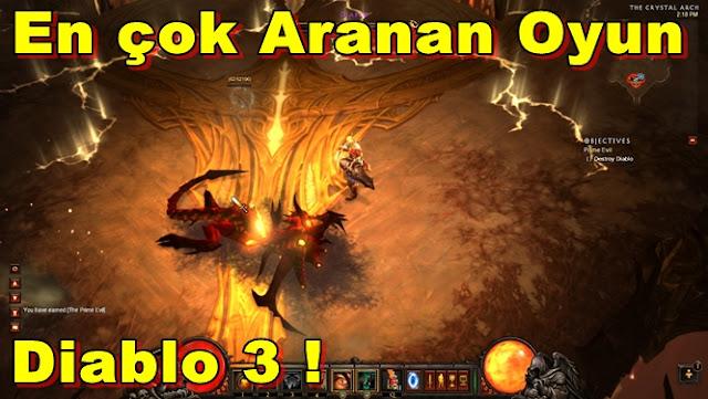 Diablo 3,2012 Yılının En Çok Aranan Oyunu Oldu!