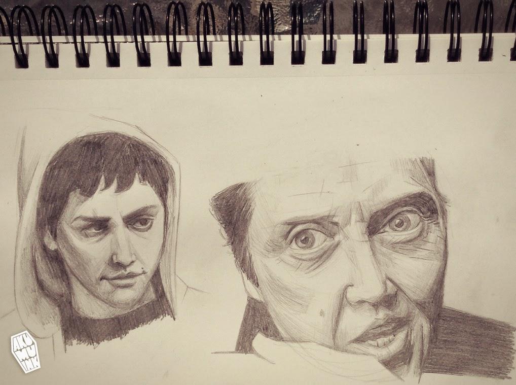 sketch, art, draw, chistopher walken, donnie darko, jake gyllenhaal, donnie darko art, actor, famous people, celebrity art, celebrity portrait, art portrait, sketch portrait, my portrait, artist montreal,