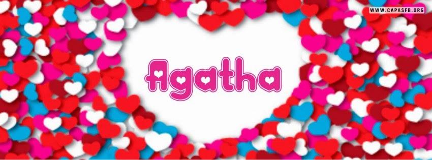 Capas para Facebook Agatha