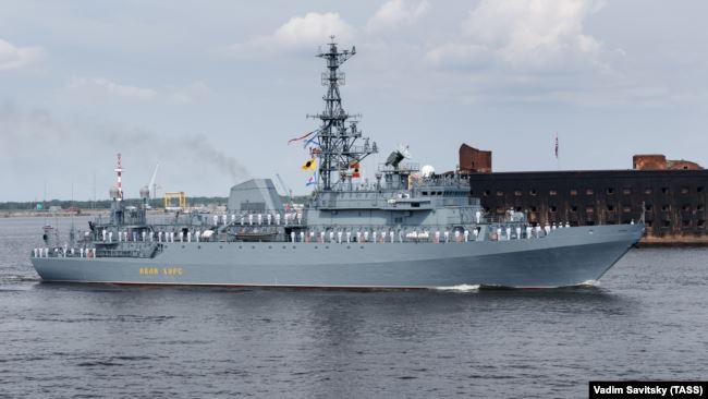 Разведывательный корабль Черноморского флота «Иван Хурс», Санкт-Петербург, 10 января 2020 года
