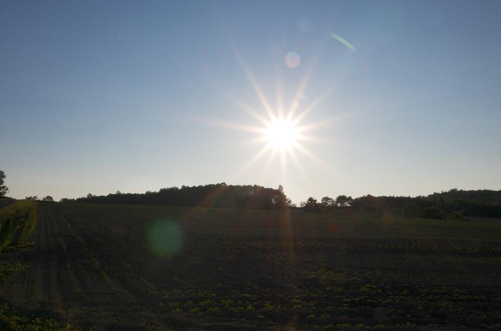 太陽が沈んでいきます