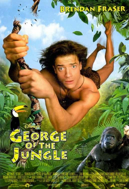 Poster Of George of the Jungle (1997) Full Movie Hindi Dubbed Free Download Watch Online At alldownloads4u.com