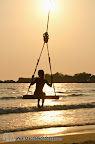Sunset swing at Klong Prao beach
