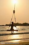 Sunset swing at Klong Prao beach