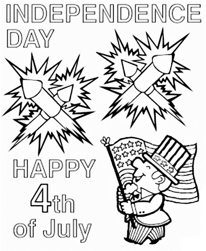 Images independence day 4th of July coloring pages