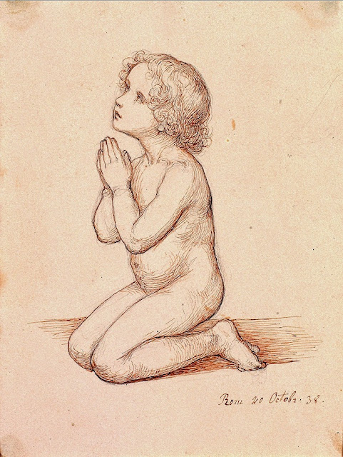 Marie Ellenrieder - Kneeling Praying Child, 1838