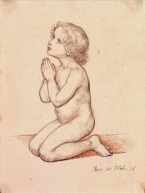 Marie Ellenrieder - Kneeling Praying Child, 1838