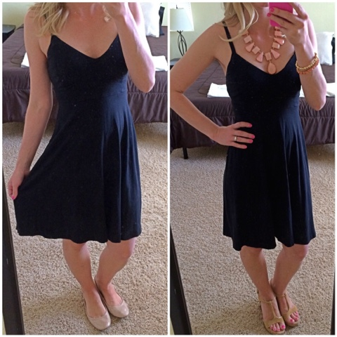 Accessorizing a simple black sundress