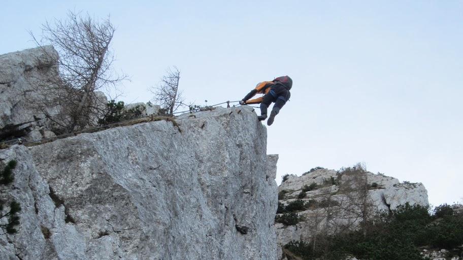 Klettersteig Katrin : Katrin 1542 m via klettersteig b c salzkammergut 23.11.2011