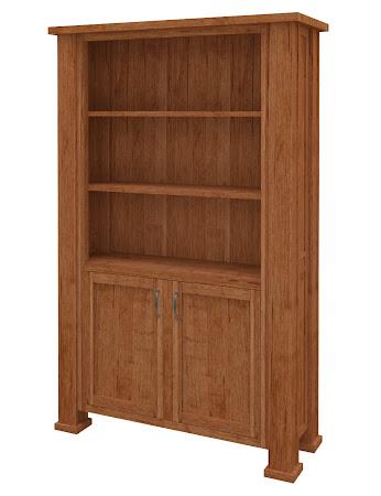 Hagen Wooden Door Bookshelf in Itasca Maple