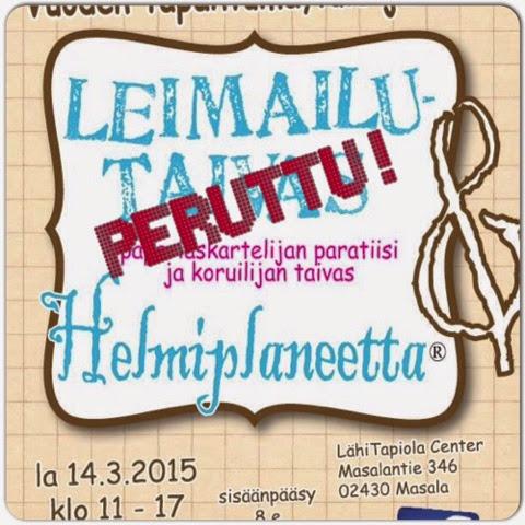 Leimailutaivas ja Helmiplaneetta® Masalassa, Kirkkonummella 14.3.2015