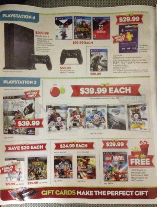 Lộ bảng giá khuyến mãi của GameStop dịp Black Friday 5