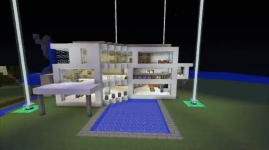 Mapa de minecraft casa moderna deacarga en el foro mundo for Casas modernas minecraft 0 9 5