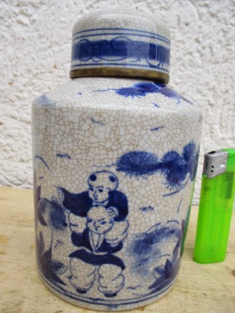 alte porzellan dose china handarbeit 1970 celadon ming. Black Bedroom Furniture Sets. Home Design Ideas