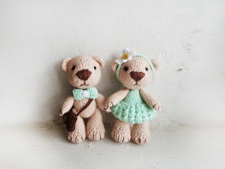 Miniature Crochet Bear Toys by Little Sweet Candy Shop