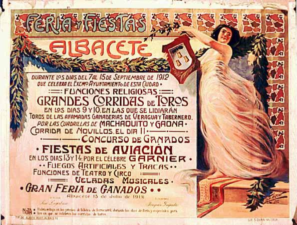 Cartel Feria Albacete 1912